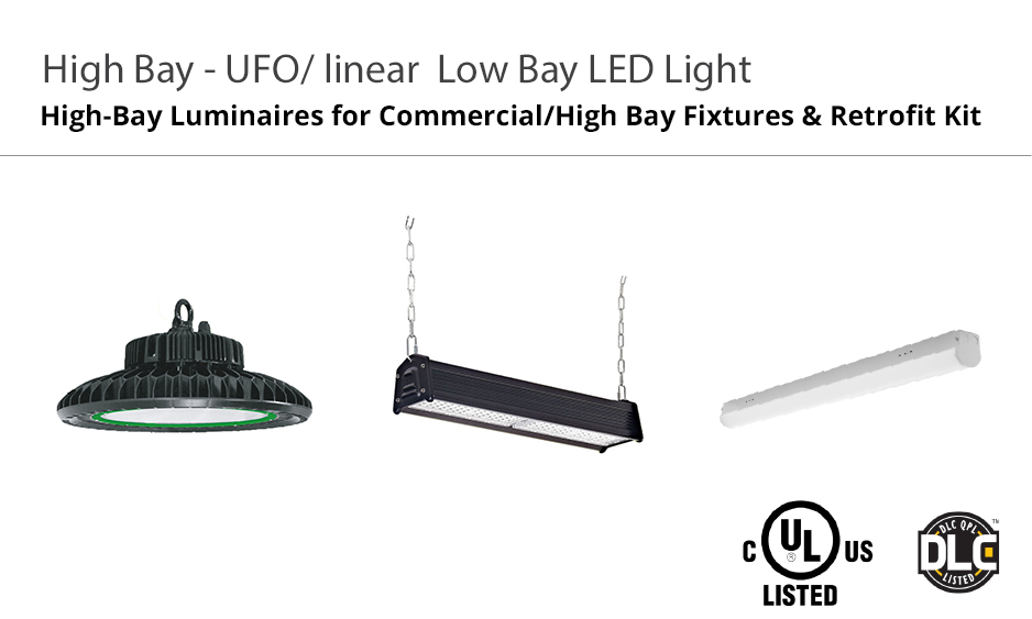 oulighting high bay UFO Linear Low Bay LED Light global